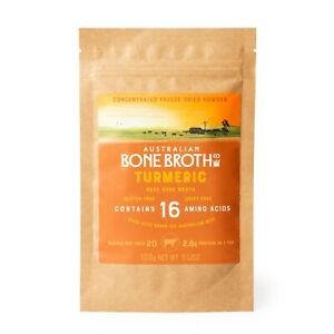 Turmeric Bone Broth Concentrated Freeze-Dried Powder- 100 grams Take on the go.