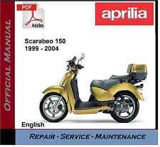Aprilia Scarabeo 150 1999 - 2004 Workshop Service Repair Manual