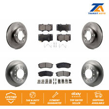 Front Rear Disc Rotors & Ceramic Brake Pads Fits Toyota Sequoia