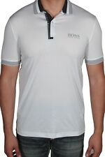 Hugo BOSS Men's Polo Shirt Paddy Pro 1 Short Sleeve 50393062 100 White