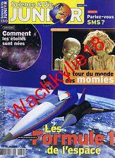 Science et vie junior n°150 du 03/2002 Momies Espace SMS Étoiles Alchimie