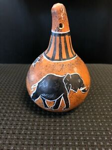 Hand Paint Gourd With Elephants