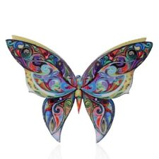 Colorful Handmade Printing Animal Butterfly Brooch Pin Women Costume Jewelry Hot