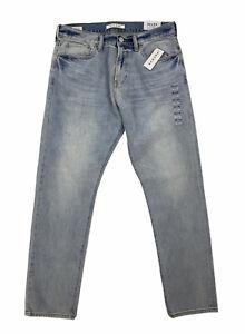 NEW Pacsun Slim Taper Comfort Stretch Light Blue Faded Mens Denim Jeans NWT