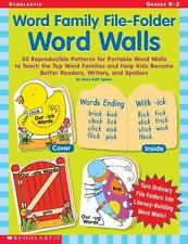 Word Family File-Folder Word Walls: 30 Reproducible Patterns for Portable Word W