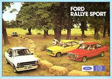 FORD ESCORT RS MK2 1976-77 UK vendite sul mercato opuscolo Messico RS1800 RS2000