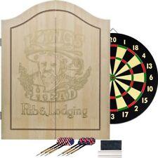 TG™ King's Head Value Dartboard Set - Light Wood -Double Sided Board