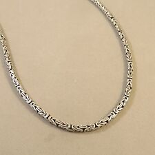Pure .925 Sterling Silver Handmade BALI CHAIN NECKLACE Byzantine .925 Indonesia
