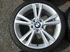 "GENUINE 18"" BMW STYLE 385 1 SERIES TWIN SPOKE ALLOYS + TYRES E36 E46 3 Z3 Z4"