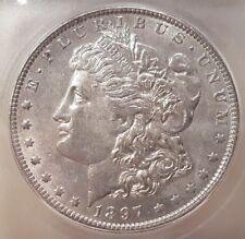 1897 O MORGAN DOLLAR GRADED AU 58 BY ICG!!!!!