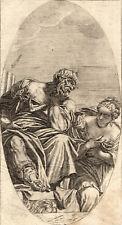PAULUS CALIARY VERONENSIS IN & PINX 1682 Valentin Lefebre ANTIQUE ETCHING