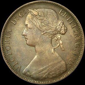 1861 PENNY Victoria Obv 2 Rev D Very fine Rare (R13) Freeman 18