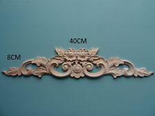 Décoratif en bois large rose sur Vintage Applique meubles Moulage C161
