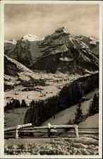 Engelberg Obwalden Schweiz s/w AK ~1920/30 Panorama gegen den Hahnen Alpen Berg