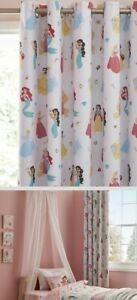 Disney Princess blackout curtains 66x54inch with pink heart rug RRP £45