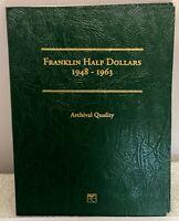 FRANKLIN HALF DOLLAR SET 1948 - 1963 Complete 35 +1 DDR Silver Coins In Folders