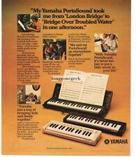 1981 YAMAHA PortaSound Portable Keyboards Vtg Print Ad
