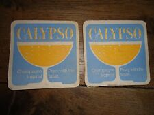 Beer drinks mats drip mats coaster CALYPSO champagne perry tropical taste
