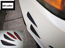 4x Universal Carbon Fiber Front Bumper Canard Lip Splitter Diffuser Fins Chin