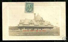 Edmonton rppc Railway Station Depot Ab Canada stamps 1906