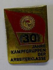 """Kampfgruppen Abzeichen """"30 Jahre Kampfgruppe der Arbeiterklasse"""""""