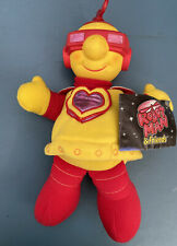 VINTAGE 1984 KENNER ROBOTMAN YELLOW & RED ROBOT 12 inch BOY PLUSH TOY Mint
