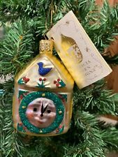 1996 Patricia Breen Glass Hickory Dickory Clock Christmas Ornament Nwt
