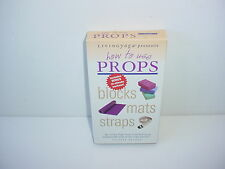 Living Yoga How To Use Props Blocks Mats VHS Video Tape Fitness Workout Exercise