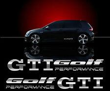 VW GOLF GTI Seitenaufkleber 2 Stk Aufkleber SPIEGEL CHROMEFFEKT FOLIE