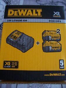 DeWalt DCB115P2 Kit Chargeur + batteries 18V (2x 5.0Ah) - DCB184 - DCB115