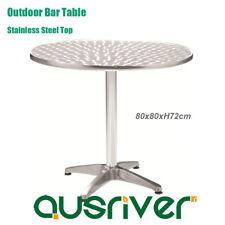 New D80cm Aluminum Bar Table Waterproof Outdoor Garden Table Stainless Steel Top
