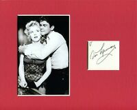 Don Murray Bus Stop Rare Signed Autograph Photo Display With Marilyn Monroe
