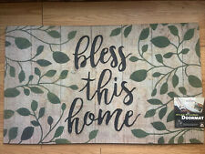 Mohawk 18 X 30 Recycled Rubber Doormat Bless This Home