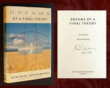 STEVEN WEINBERG SIGNED - DREAMS OF A FINAL THEORY 1st Ed Nobel Quantum Physics 1