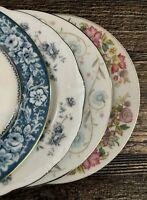 Set of 4 Vintage Mismatched China Dessert Bread Plates Wedding Shower Floral