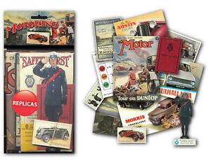 Motoring Memorabilia Gift Pack with over 20 pieces of Replica Artwork