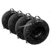 "Car Spare Tire Storage Protection Bag 13""-16"" Wheel Tyre Carry Tote Cover 4 Pcs"