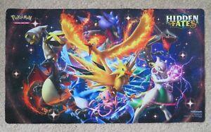 Pokemon Hidden Fates Premium Playmat Play Mat TCG Shiny Free Ship