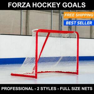 FORZA Hockey Goals [72in Full Size] | Pro Hockey Nets Steel Goals Easy Assembly