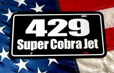 429 Super Corba Jet License Plate Tag 1970 Torino Gt 1971 Mustang Scj Drag Pack