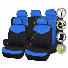 Black&Blue Universal Car Seat Covers Auto Breathable Seat Cushions Protectors
