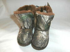 Realtree Camo Toddler Boys Boots - You Choose - Faux Fur Lined & Rubber Sole NWT