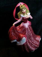 Disney Princess Aurora Christmas Ornament Sleeping Beauty Pink glittering gown