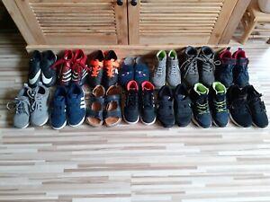 14 Paar, Paket Schuhe Gr.33,34, Jungen,Sneaker,Fussballschuhe,Sandalen,Adidas