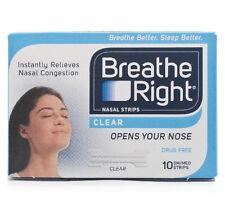 Breathe Right Nasal Strips 10 Small/Medium Clear Regular Stop Snoring Congestion
