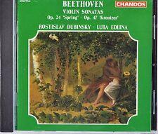 Beethoven: Violin Sonatas: Spring / Kreutzer, Dubinsky / Edlina, New CD