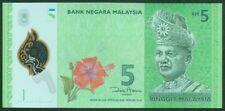 TWN - MALAYSIA MALESIA 52 - 5 Ringgit 2012 UNC PREFIX AA POLYMER