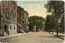 View on State Street Albany Ny Postcard 1913