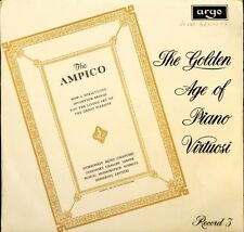 DA 43 THE GOLDEN AGE OF PIANO VIRTUOSI ampico piano rolls record 3 LP PS EX/EX