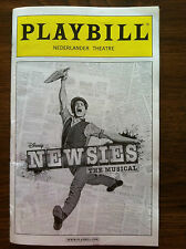 NEWSIES the musical  Broadway playbill Jeremy Jordan Supergirl OBC NYC